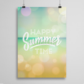 Poster Happy summer time