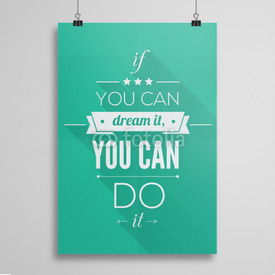 Poster You can do it