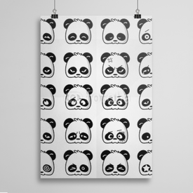 Poster Emoticon Panda
