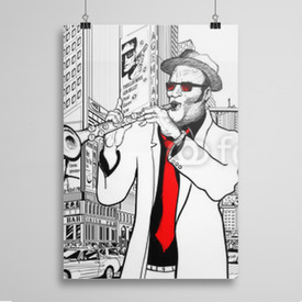 Poster Jazz band in New York