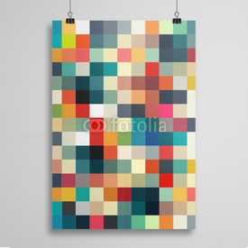 Poster Abstract geometric pattern