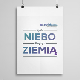 Poster Niebo i ziemia