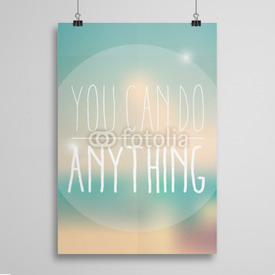 Poster You can do anything