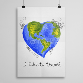 Poster I like to travel