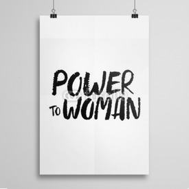 Poster Power To Woman