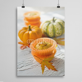 Poster Dyniowe muffiny