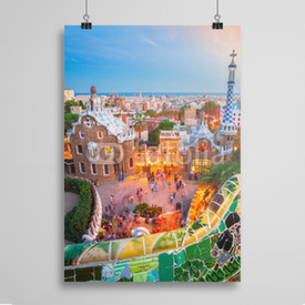 Poster Park Guell w Barcelonie