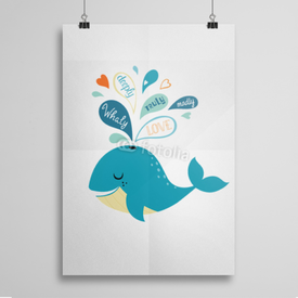 Poster Whale in love
