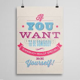 Poster Be yourself