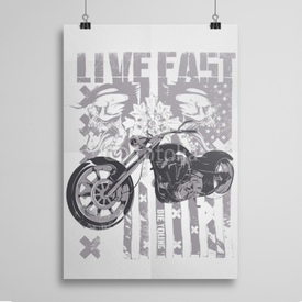 Poster Live Fast