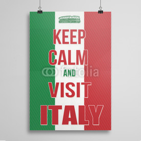 Poster Keep calm and visit Italy