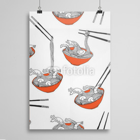 Poster Foodie noodle zupa