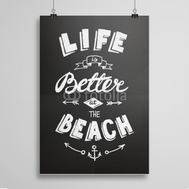 Poster At the beach