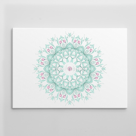 Wydruk na płótnie Watercolor mandala on white background