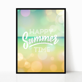 Plakat w ramie Happy summer time