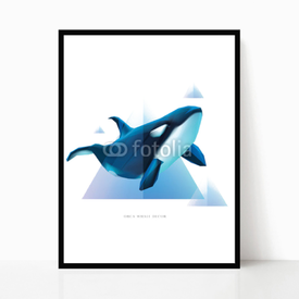 Plakat w ramie Orca Decor