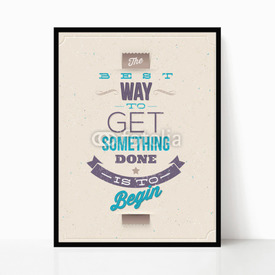 Plakat w ramie Motivating Quotes. Typographical vector design