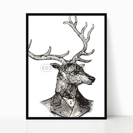 Plakat w ramie Mr. Deer