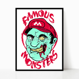 Plakat w ramie Famous monsters