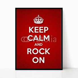 Plakat w ramie Keep Calm and Rock On