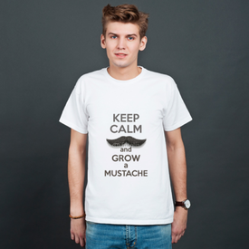 Koszulka męska Keep Calm and grow a Mustaches