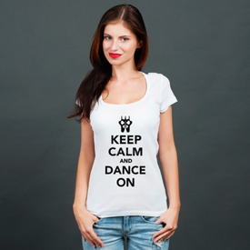 Bluzka damska Keep Calm and Dance on