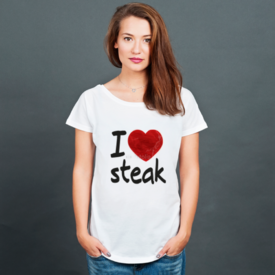 Bluzka damska oversize I love steak