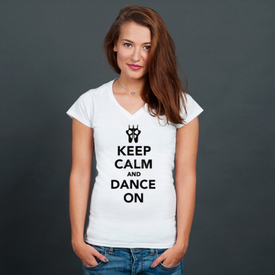 Bluzka damska w serek Keep Calm and Dance on
