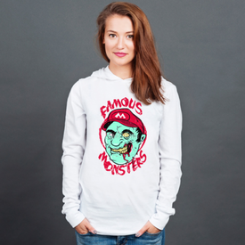 Longsleeve z kapturem unisex Famous monsters