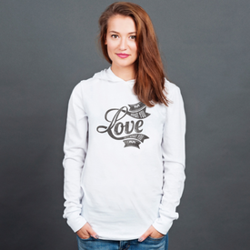 Longsleeve z kapturem unisex Do what you love what you do