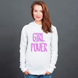 Longsleeve z kapturem unisex Girl power