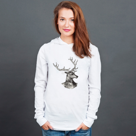 Longsleeve z kapturem unisex Mr. Deer