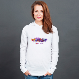 Longsleeve z kapturem unisex New York