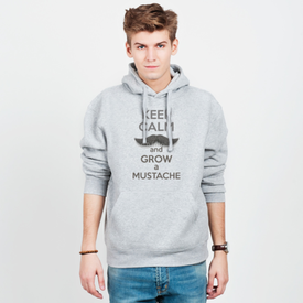 Bluza męska z kapturem Keep Calm and grow a Mustaches