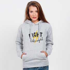 Bluza z kapturem damska Fight like a girl