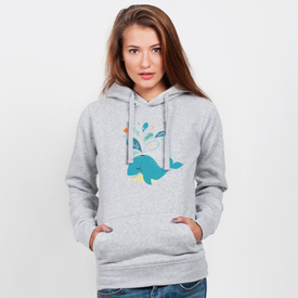 Bluza z kapturem damska Whale in love