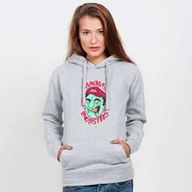 Bluza z kapturem damska Famous monsters