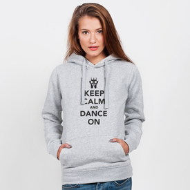 Bluza z kapturem damska Keep Calm and Dance on