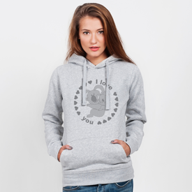 Bluza z kapturem damska Koala I love you
