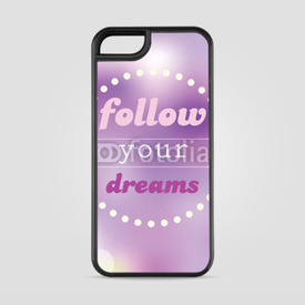 Etui na iPhone 5/5s/5SE Follow your dreams