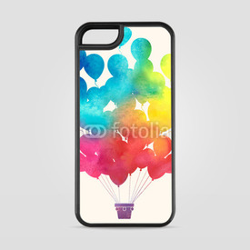 Etui na iPhone 5/5s/5SE Watercolor balloons