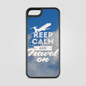 Etui na iPhone 5/5s/5SE Keep calm and travel on