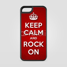 Etui na iPhone 5/5s/5SE Keep Calm and Rock On