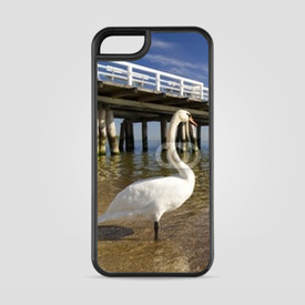 Etui na iPhone 5/5s/5SE the pier in Sopot with swan