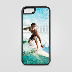 Etui na iPhone 5/5s/5SE Surfer on Blue Ocean Wave in the Tube Getting Barreled