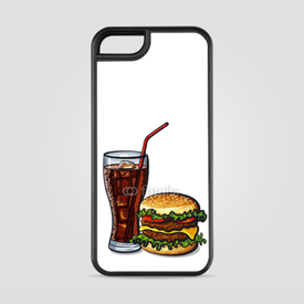 Etui na iPhone 5/5s/5SE Burger z colą