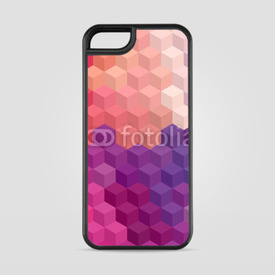 Etui na iPhone 5/5s/5SE Multicolor cubic mosaic.