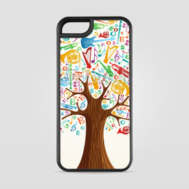 Etui na iPhone 5/5s/5SE Abstract musical tree made with instruments