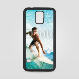 Obudowa na Samsung Galaxy S5 Surfer on Blue Ocean Wave in the Tube Getting Barreled