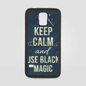 Obudowa na Samsung Galaxy S5 Keep calm and use black magic